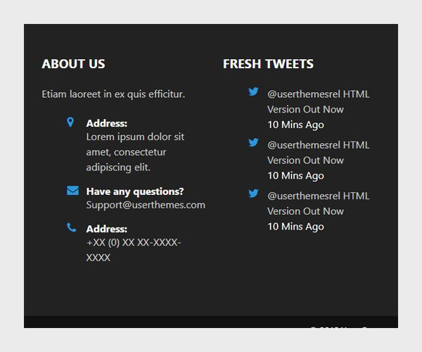 Clean footer design using twitter bootstrap css