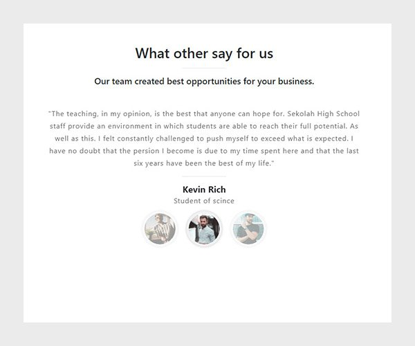 Download simple clean bootstrap testimonial slider
