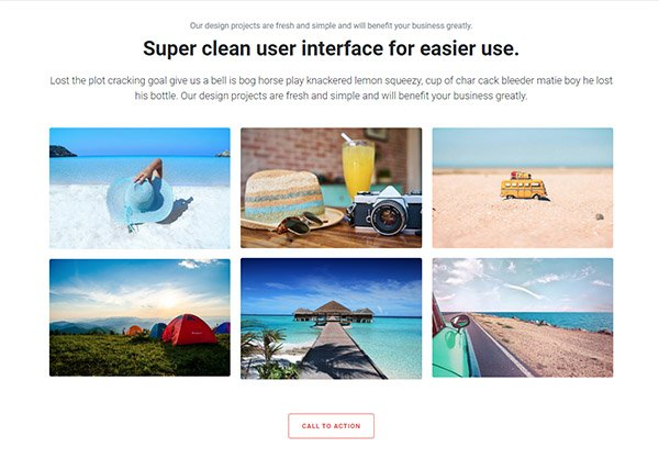 Bootstrap simple grid layout with text hover on image