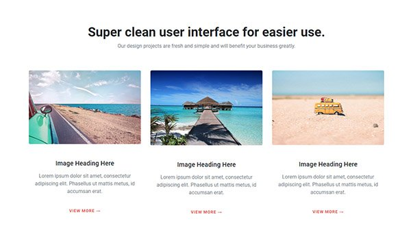 Bootstrap three image column layout html css code
