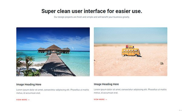 Two column bootstrap snipp minimal code easy to use on your web page