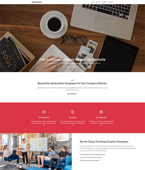 Free bootstrap template for your next website