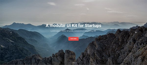 Bootstrap hero header example one with carousel fade