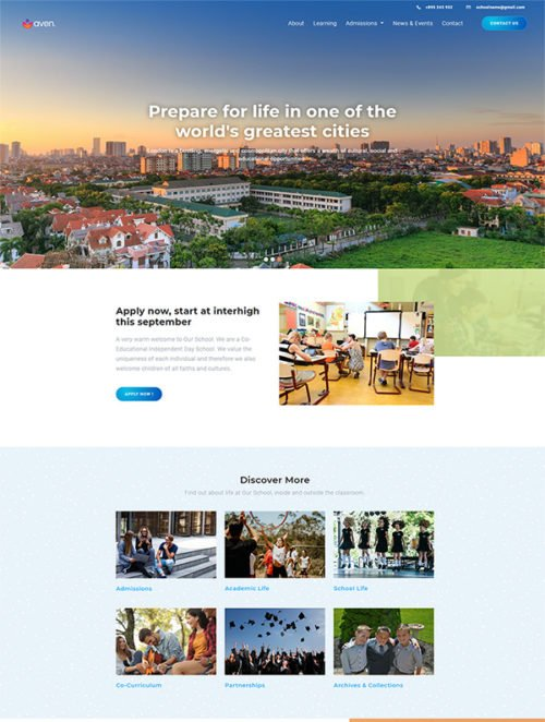 Download free school template made with bootstrap