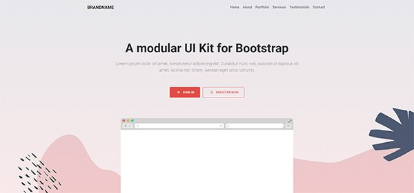 Bootstrap responsive hero header example five