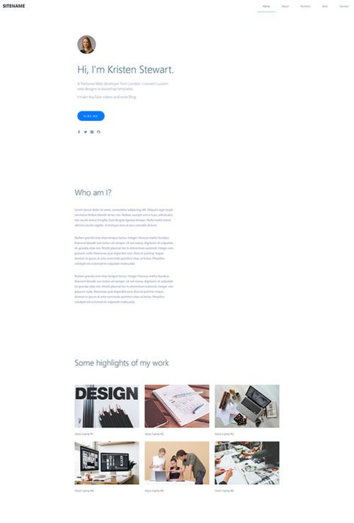 Super minimalistic portfolio template easy to download