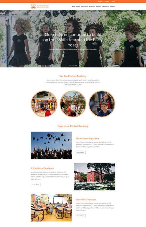 Free New Modern School, Institute or College Web Template