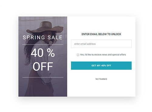 Free lead generation email for fashion website example one