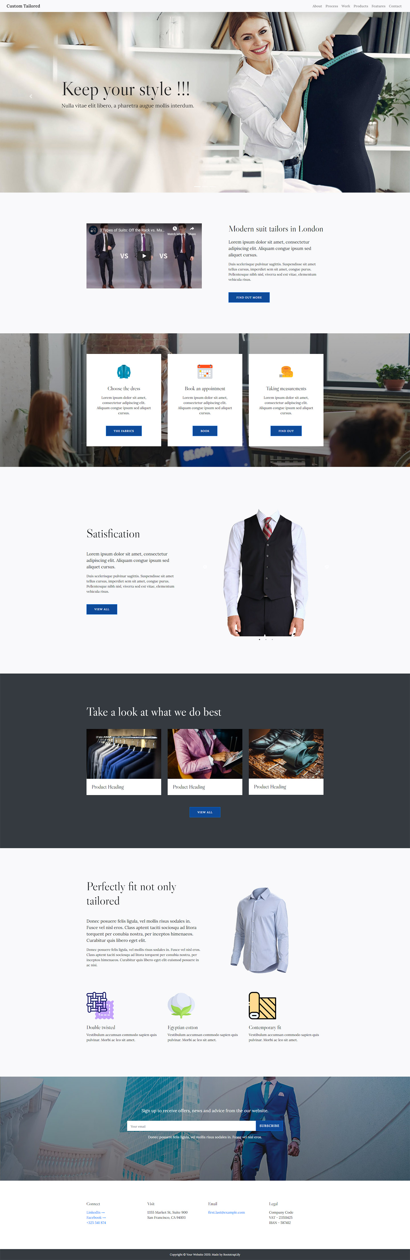 free tailor website