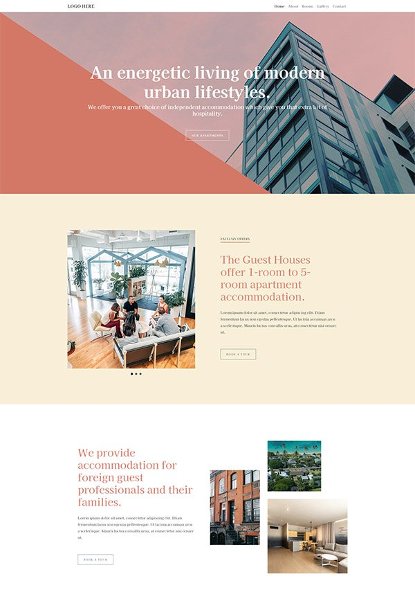 free hotel website templates